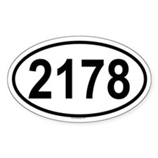 2178 Oval Decal