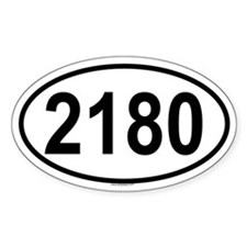2180 Oval Decal