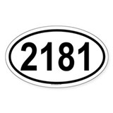 2181 Oval Decal