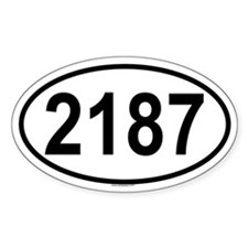 2187 Oval Decal