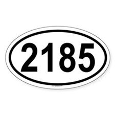 2185 Oval Decal