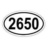 2650 Oval Decal