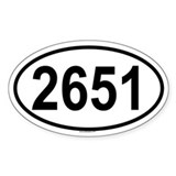 2651 Oval Decal