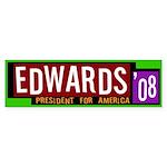 Edwards '08 for America bumper sticker