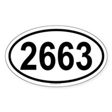 2663 Oval Decal