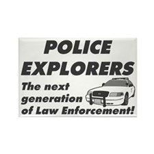 Explore Law Enforcement Rectangle Magnet