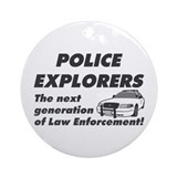 Explore Law Enforcement Ornament (Round)