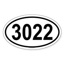 3022 Oval Decal