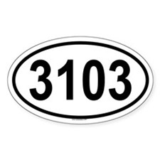 3103 Oval Decal