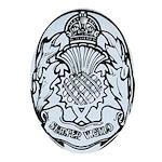 Scotland Police Oval Ornament