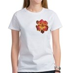 Coral Red Daylily Women's T-Shirt