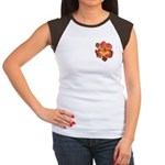 Coral Red Daylily Women's Cap Sleeve T-Shirt