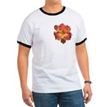 Coral Red Daylily Ringer T