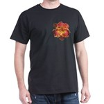 Coral Red Daylily Dark T-Shirt