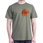 Coral Double Daylily Dark T-Shirt