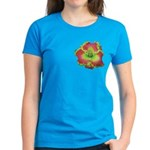 Pink w/ Green Edge Daylily Women's Dark T-Shirt
