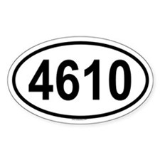 4610 Oval Decal