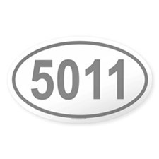 5011 Oval Decal