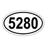 5280 Oval Decal