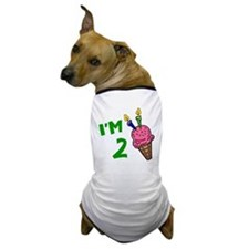 """I'm 2"" Ice Cream Cone Dog T-Shirt"