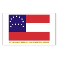 Lee's HQ Flag Rectangle Decal