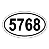 5768 Oval Decal