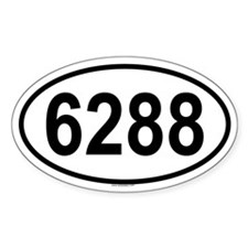 6288 Oval Decal