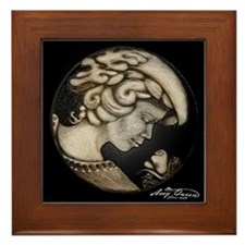 Lillian cameo onyx Framed Tile