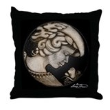 Lillian cameo onyx Throw Pillow