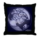 Lillian cameo royal blue Throw Pillow