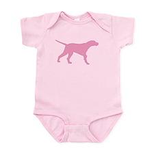 Pink Pointer Dog Infant Bodysuit
