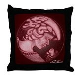 Lillian cameo burgundy Throw Pillow