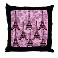 Eiffel Tower Parisian Chic Throw Pillow