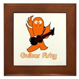 guitar fishy Framed Tile