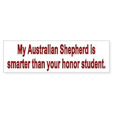 Australian Shepherd is Smarter Bumper Bumper Sticker