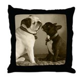 REGGIE & PEPI Throw Pillow