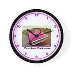 Panther Pink Wall Clock