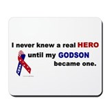 Never Knew A Hero.....Godson (ARMY) Mousepad