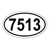 7513 Oval Decal