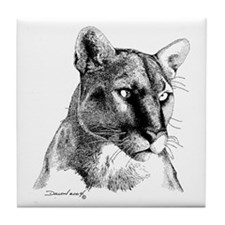Mountain Lion Tile Coaster