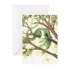 Green Fairy Dragon Greeting Cards (Pk of 10)