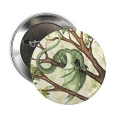"Green Fairy Dragon 2.25"" Button (10 pack)"