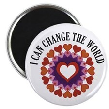 "I can change the world 2.25"" Magnet (100 pack)"