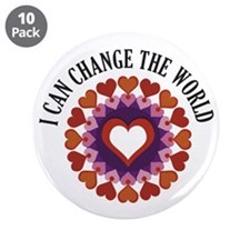 "I can change the world 3.5"" Button (10 pack)"