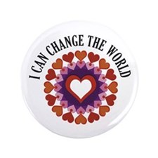 "I can change the world 3.5"" Button"