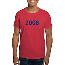2008 (Blue) - Red T-Shirt