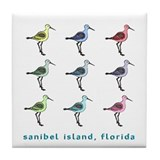 9 sandpipers | sanibel island Tile Coaster