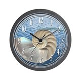 Cute Seashell Wall Clock