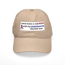 Never Knew A Hero.....Granddaughter (ARMY) Baseball Cap