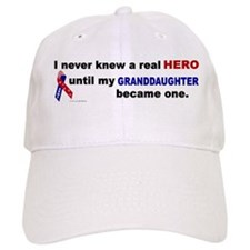 Never Knew A Hero.....Granddaughter (ARMY) Baseball Cap